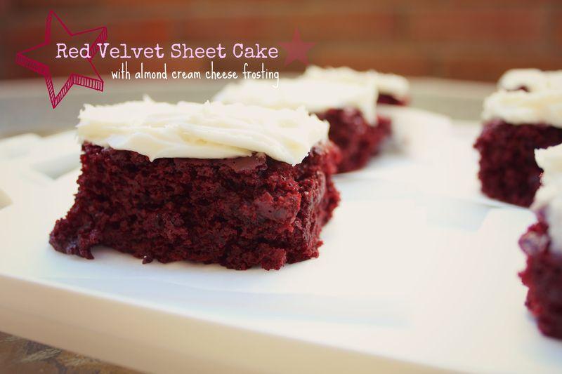 Red Velvet Sheet Cake - Baking in Couture