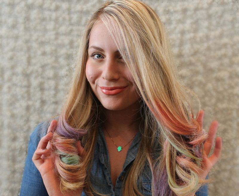 Chalk hair image
