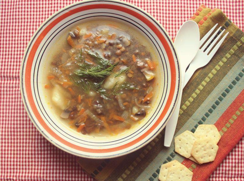 Mushroom and lentil